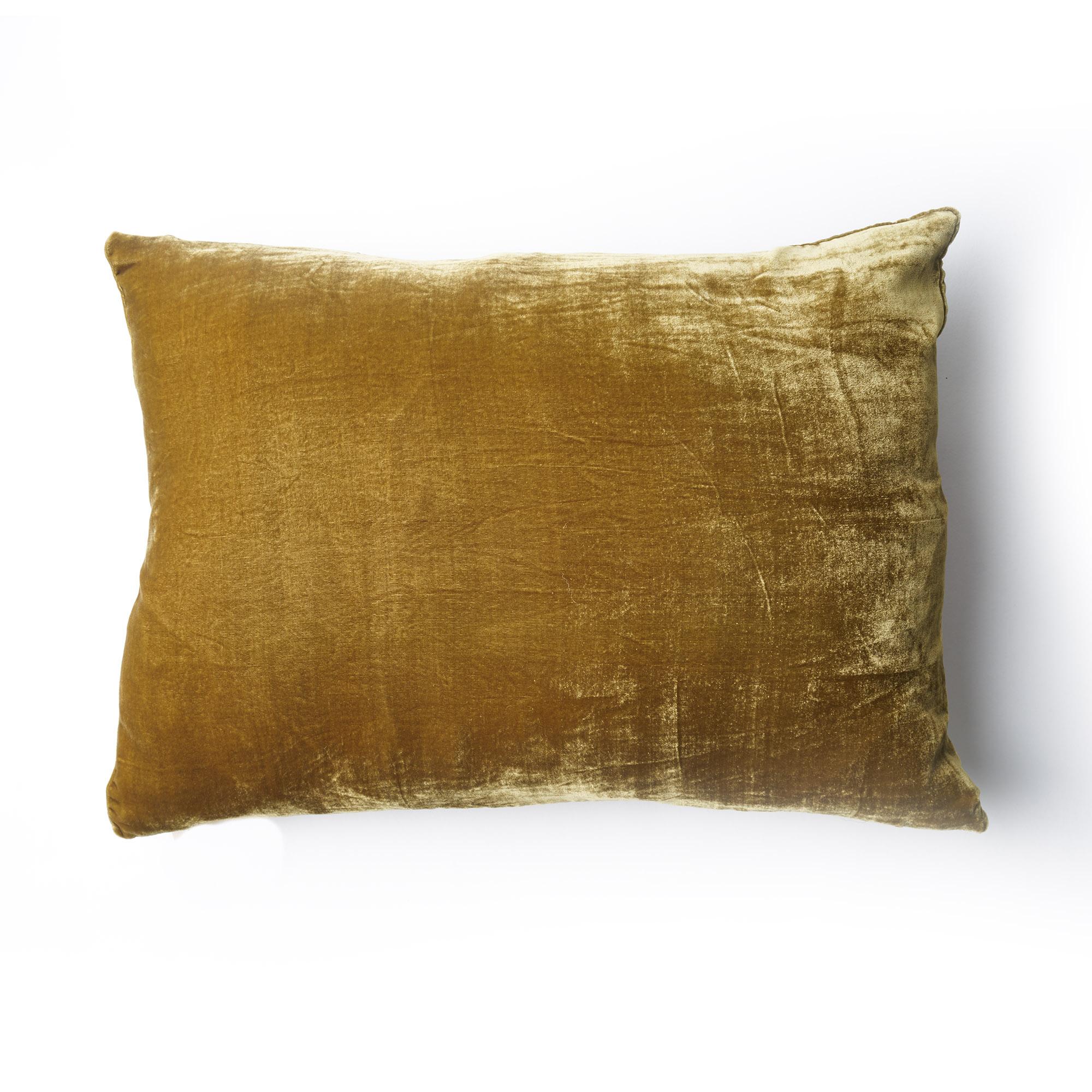 Almohadón de terciopelo, rectangular, dorado
