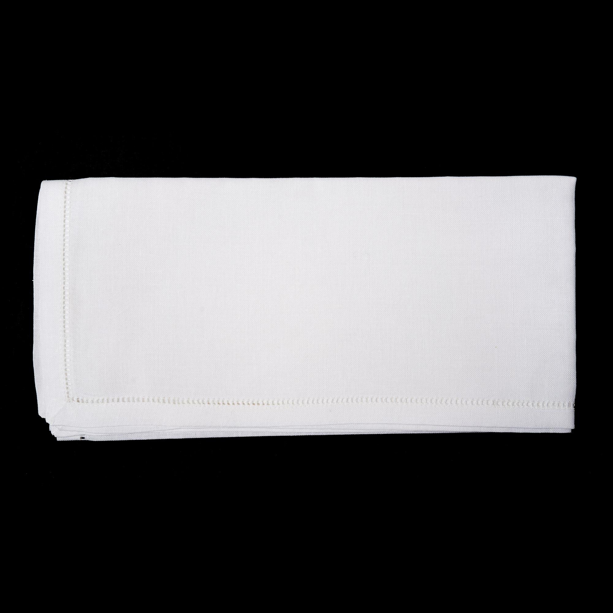 Servilletas de lino blancas
