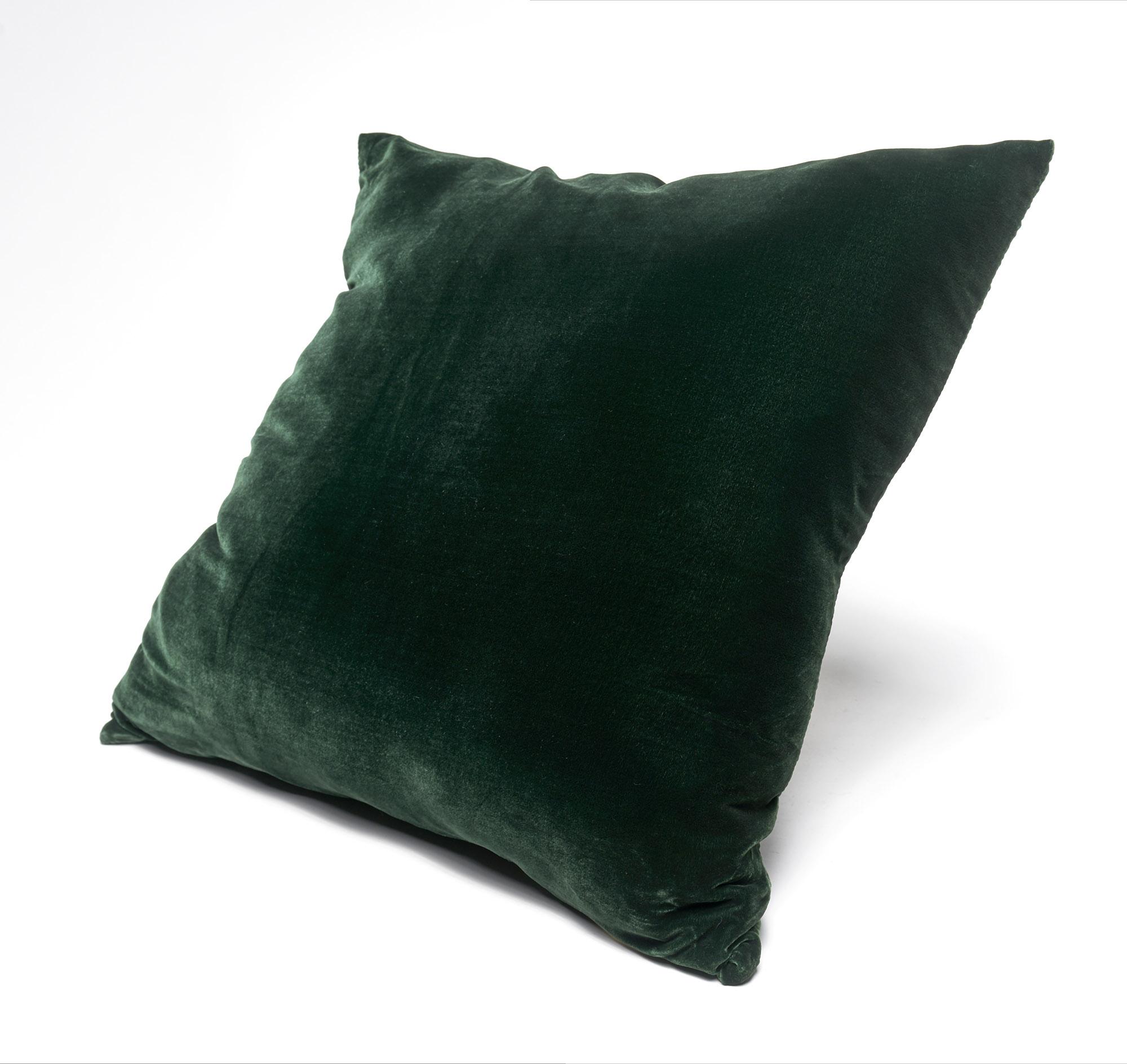 Almohadón de terciopelo, cuadrado, verde inglés