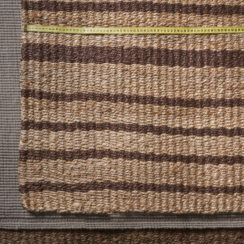 Alfombra de Yute a rayas marrón y natural 1.70 x 2.50 m