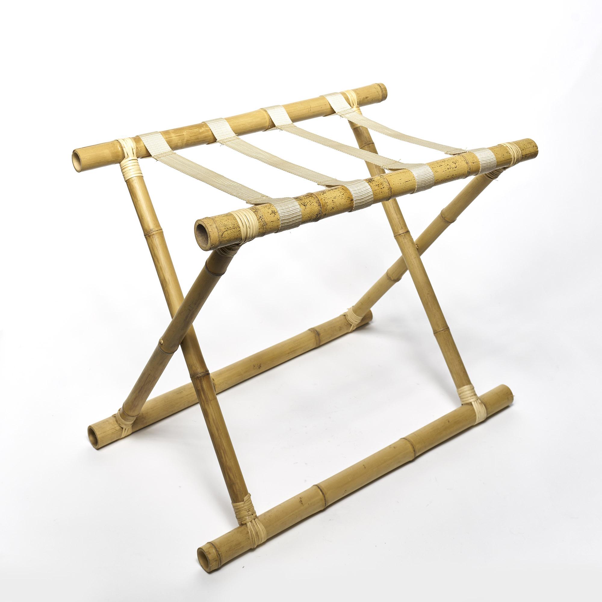 Rack valijas, de Bambú