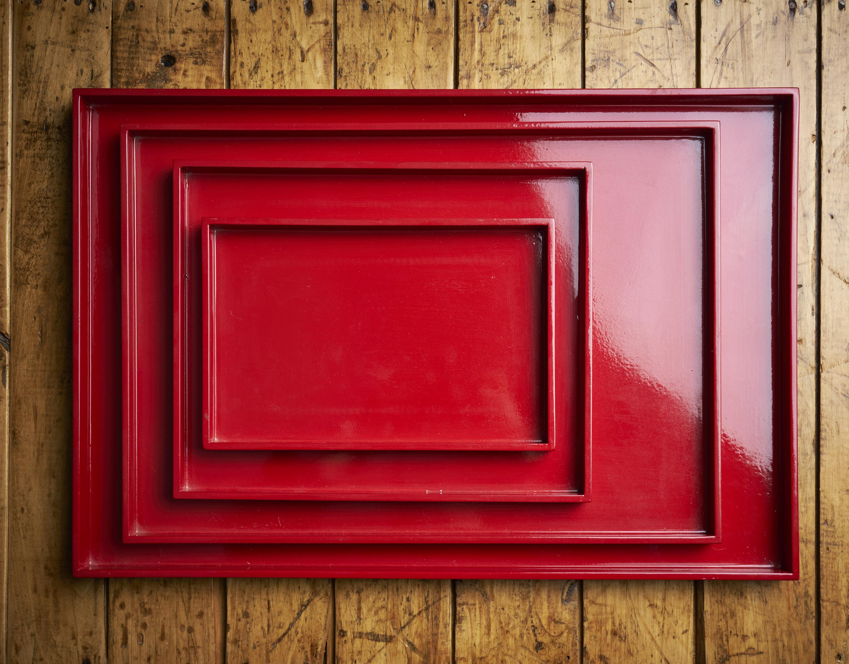 Bandeja laca roja 20 x 30 cm
