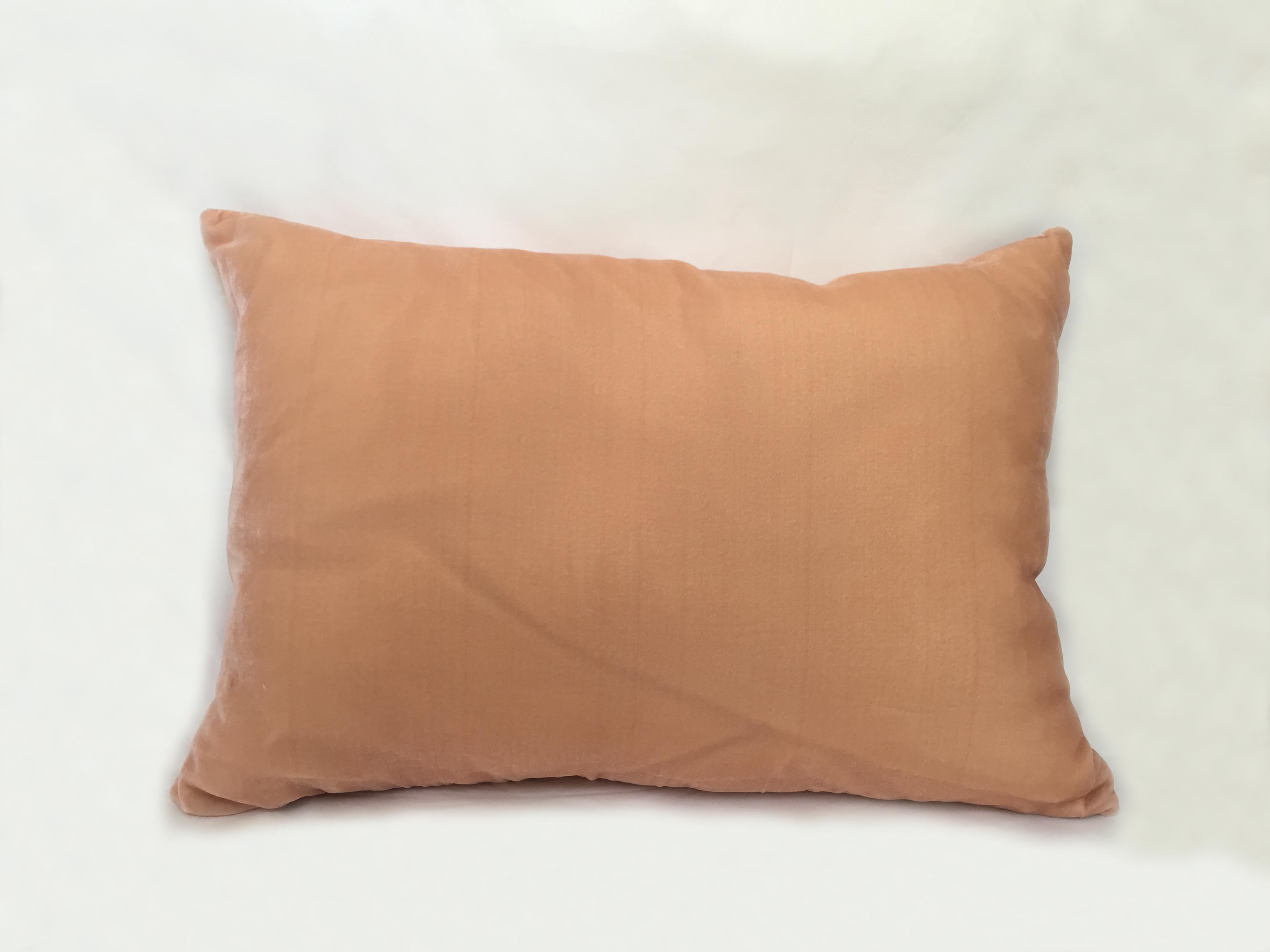 Almohadón de terciopelo, rectangular, durazno
