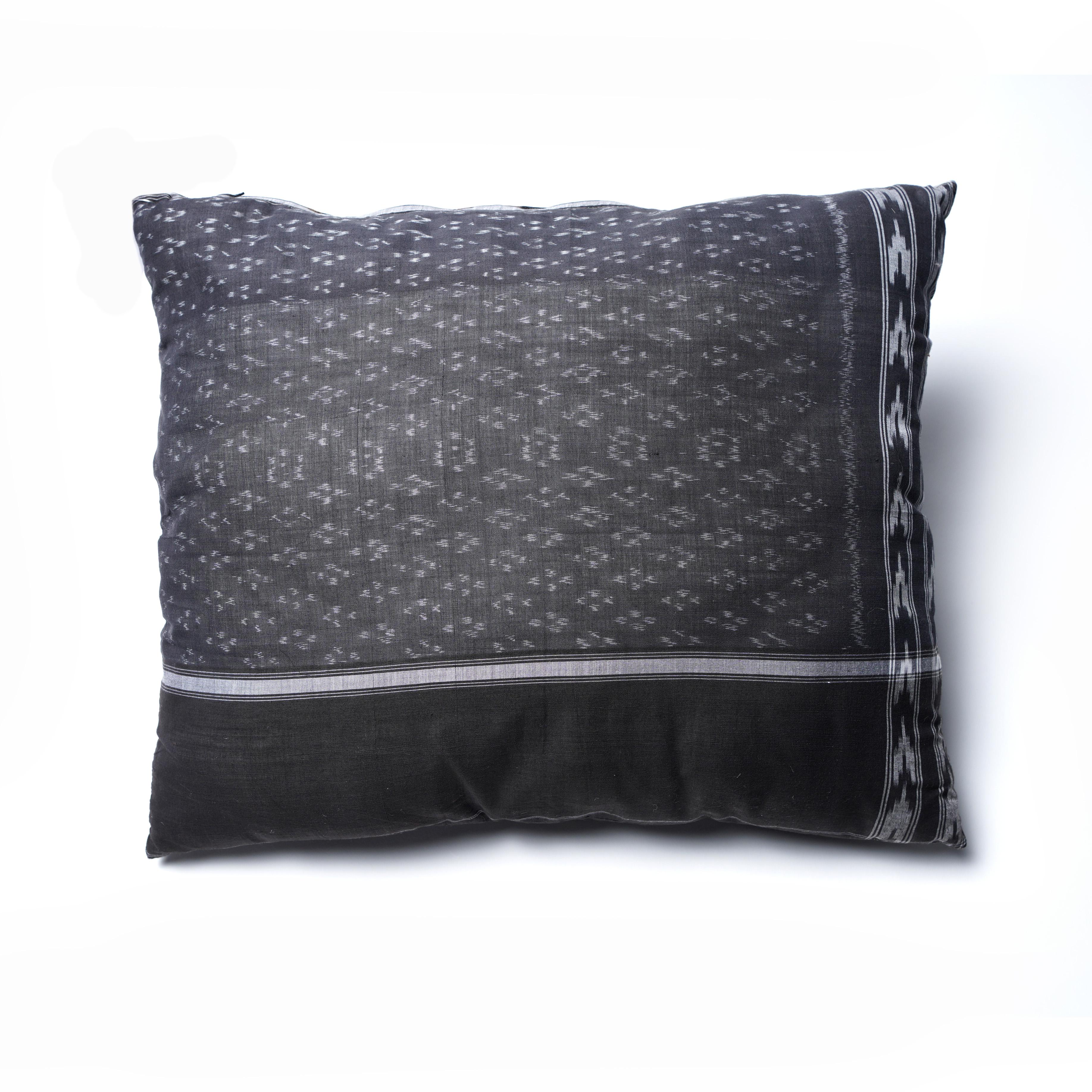 Almohadón algodón Negro y Marrón